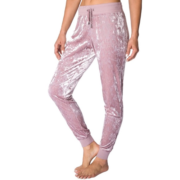 Betsey Johnson Womens Skinny Crushed Velvet Sweatpants